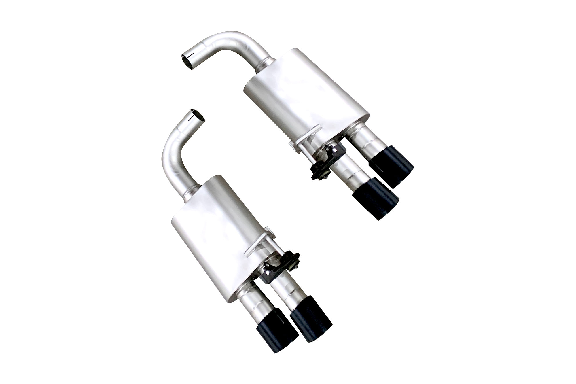 Lth Mustang Gt Axle Back Exhaust System Satin Black Tips