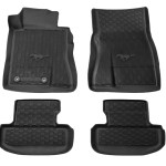 Ford Mustang All Weather Floor Mats W Pony Logo 2015 2021 Hr3z 6313300 Aa Steeda