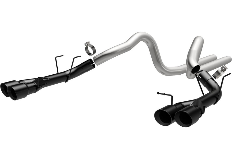 magnaflow 15176 mustang gt500 competition cat back exhaust black quad tips 2013 2014