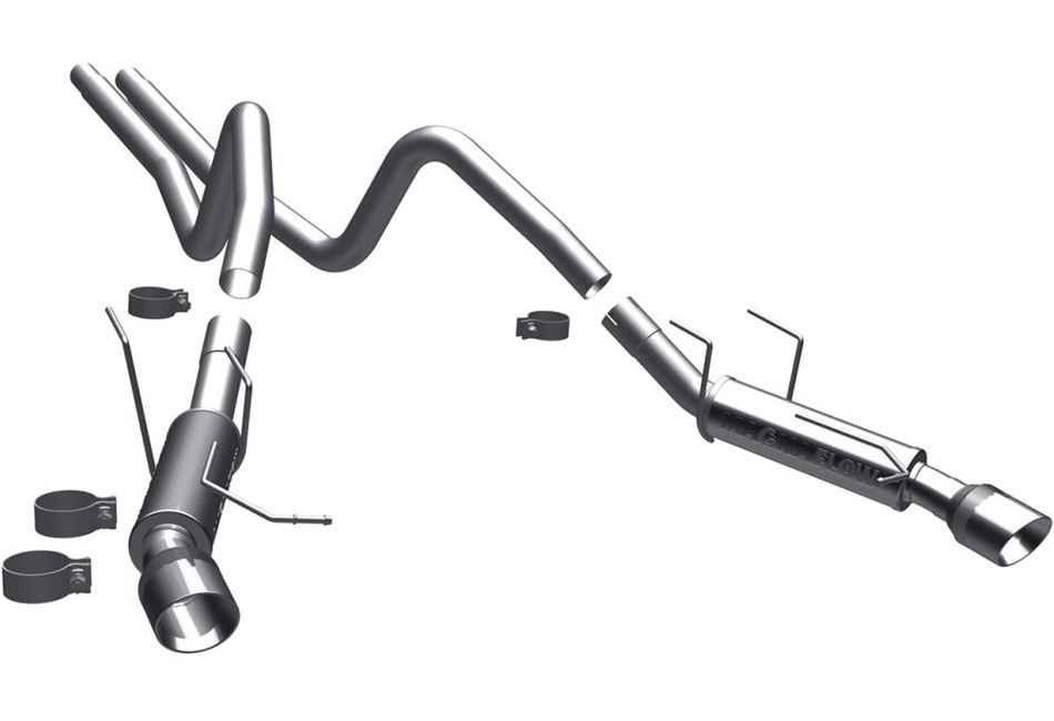 magnaflow 15592 mustang v6 competition cat back exhaust 2011 2012