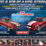 Free Tickets – Win 2 One-of-a-Kind GT500s and $50,000 Cash