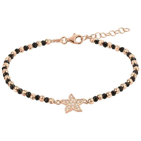 Silberarmband in rose` mit Stern