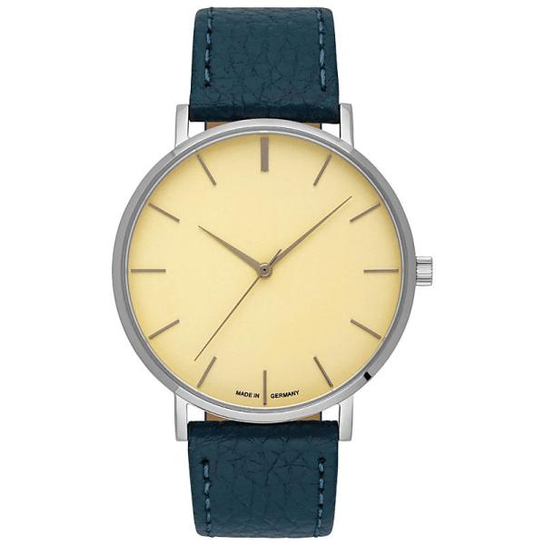 Uhr mit Gravur gehäuse silber ziffernblatt goldUhr inklusive Gravur