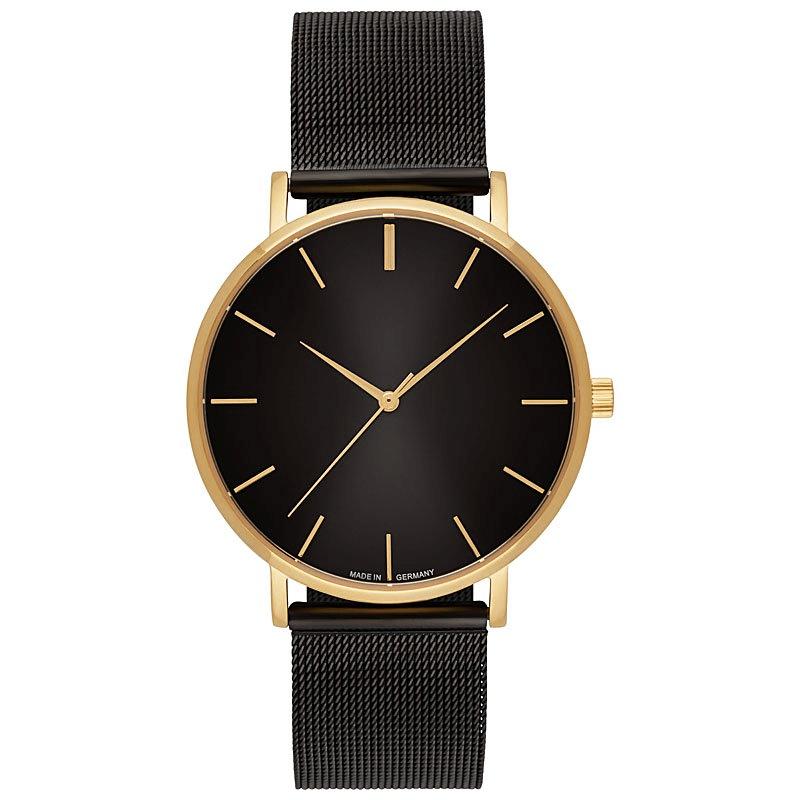 Uhr inklusive Gravur gold-schwarz