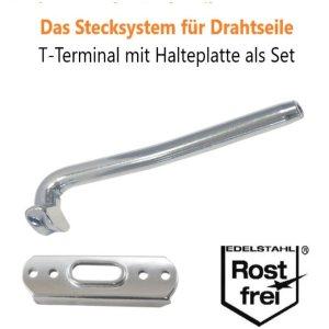 Steelando Stecksystem für Drahtseile T-Terminal
