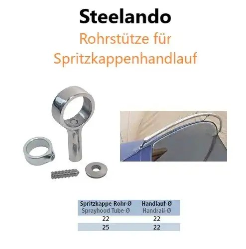 Rohrstütze für Spritzkappenhandlauf Produktbild