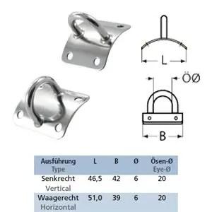 Mastplatte gewölbt für 60-70 mm Mast-Ø