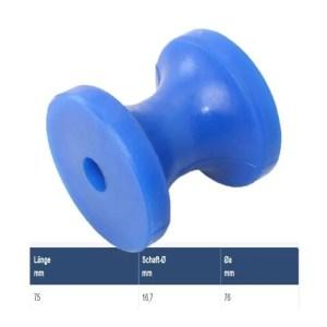Blaue PU Bugrolle