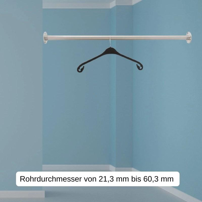 Edelstahl Garderobenstange für Nischen
