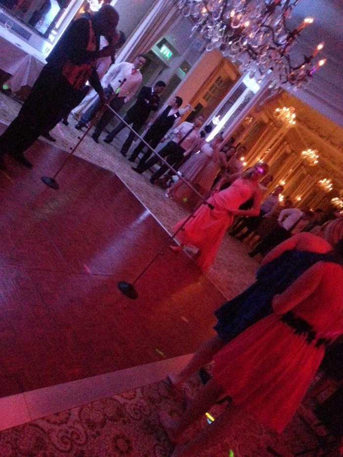 Caribbean Dj Limbo Dance Steel band limbo by design Bride