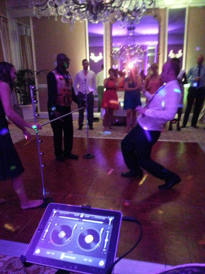 Caribbean Dj Limbo Dance Steel band limbo by design Groom