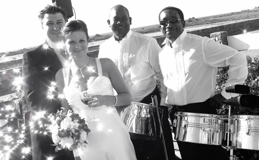 cobo bay hotel steelasophical steel band wedding