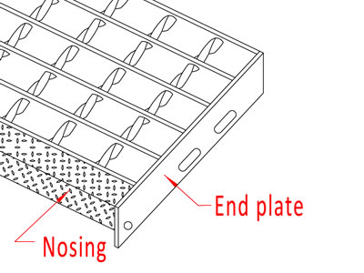 Metal Open Bar Grating for Industrial flooring & Stair Treads
