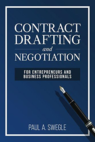 Contract Drafting and Negotiation, Front Cover in Dark Blue with White Writing