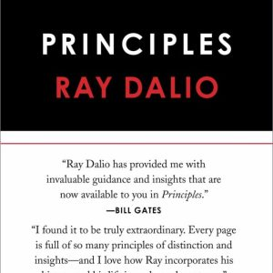 Principles: Life and Work by Ray Dalio, front cover top half black, bottom half white