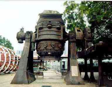 Bessemer converter used in steel making