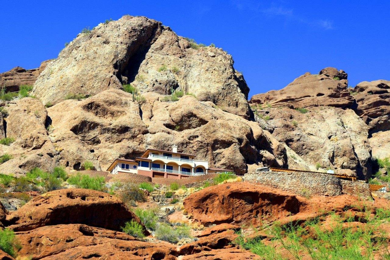At the Foot of Camelback Mountain  Phoenix Arizona