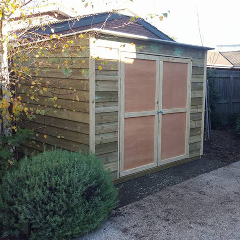 Skillion Roof Timber Sheds  SteelChief  Melbourne