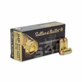 9mm Luger | Sellier & Bellot - JHP - 115 Grains - 50 Rounds