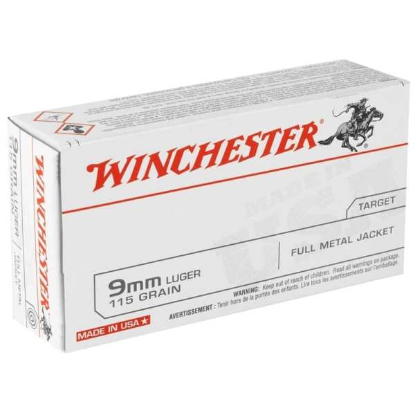 9mm Luger |  Winchester - FMJ - 115 Grains - 50 Rounds
