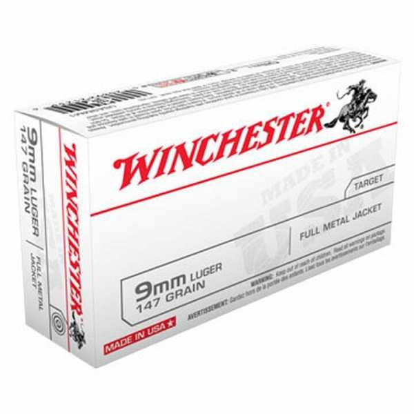 9mm Luger | Winchester - FMJ - 147 Grains - 50 Rounds