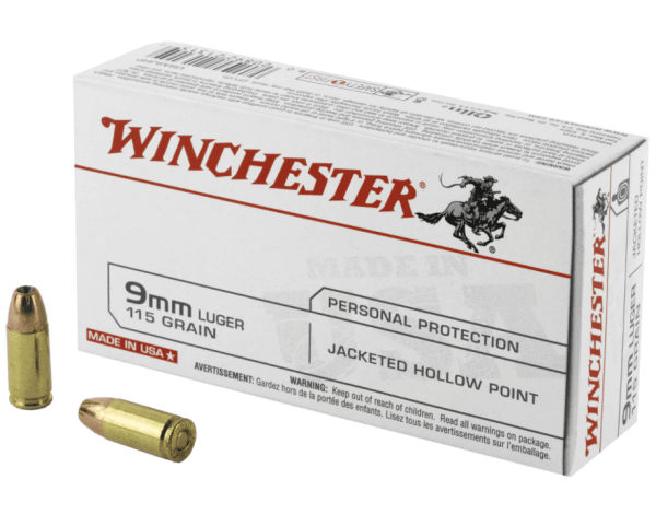 9mm Luger | Winchester - JHP - 115 Grains - 50 Rounds