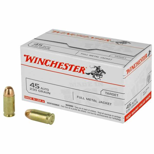 .45 ACP | Winchester - FMJ - 230 Grains - 100 Round Value Pack