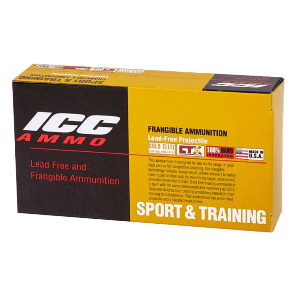 ICC45 155 Grain Lead Free Frangible Hollow Point (Defense) - 1000 Round Case