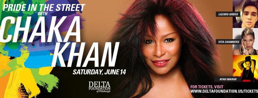 Pittsburgh Pride in the Street headliner is Chaka Khan!