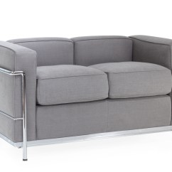 Nubuck Leather Sofa Henley And Chair Lc2 Tweepersoonssofa Reproductie Van Le Corbusier