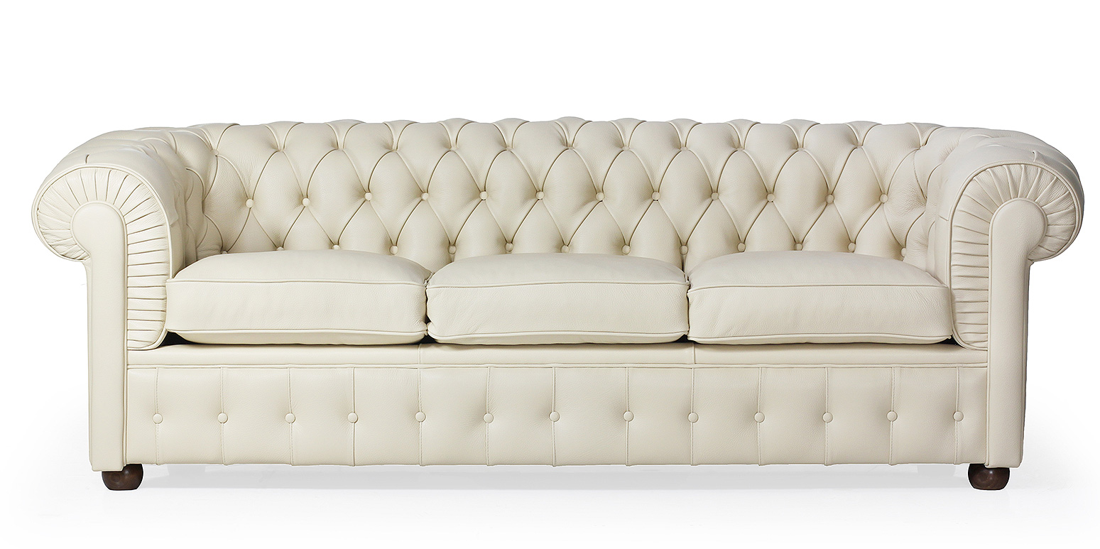 white chesterfield 3 seater sofa 4 loose covers