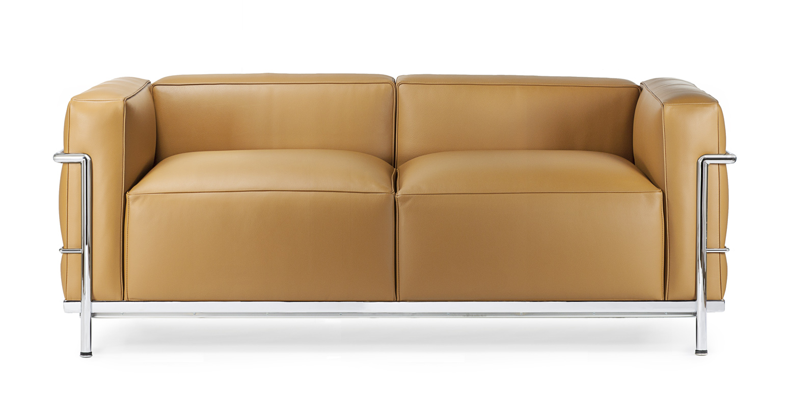 le corbusier sofa replica and ottoman with chaise cushion lc2 grand confort pe