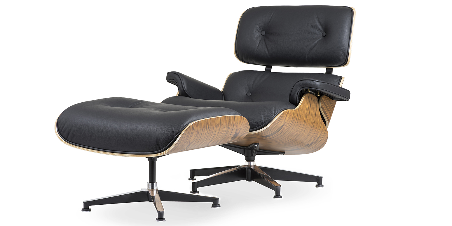 eames chair replica huge bean bag chairs lounge and ottoman