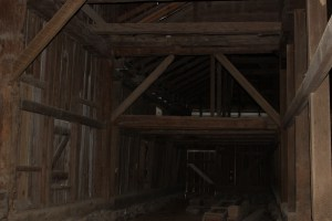 One of the photos taken inside of the great barn.  Please see featured photo for an outside view of the barn.