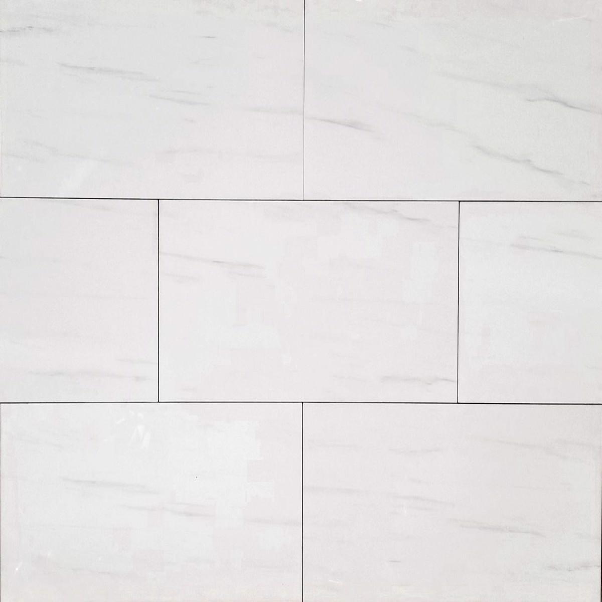 12x24 white north polished floor wall porcelain tile