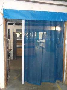 Sliding Mesh Curtain Door between Warehouse Rooms