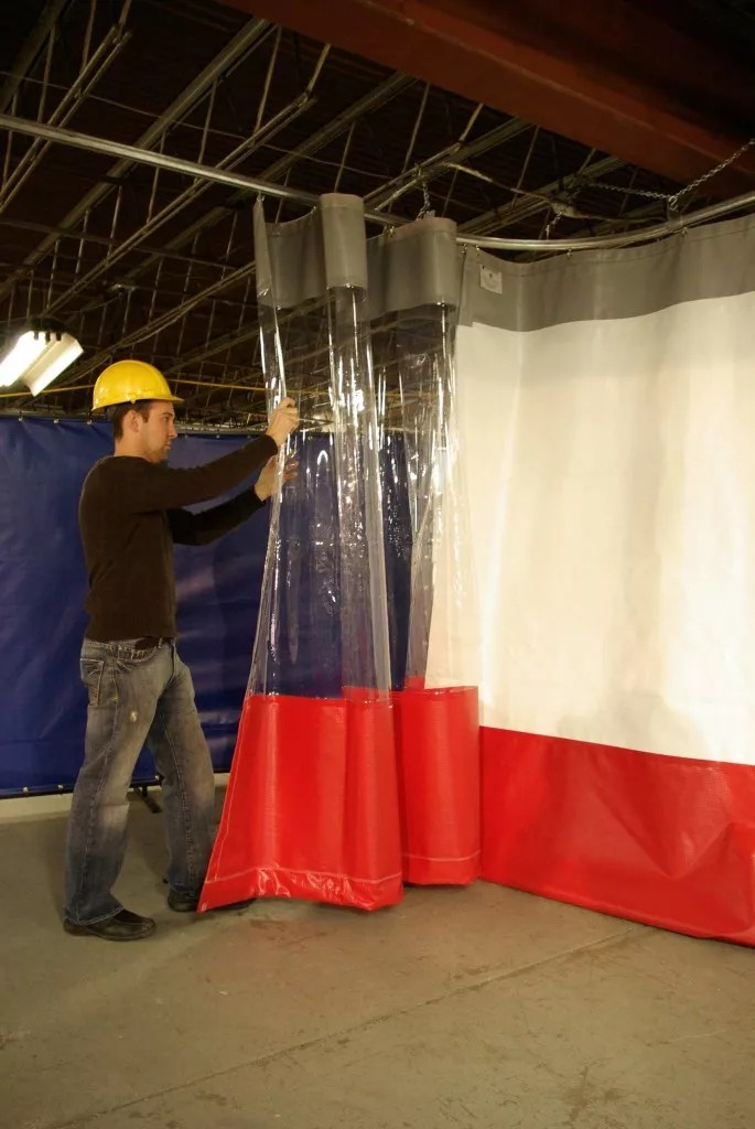 Heavy Duty Industrial Curtains  Vinyl PVC Wall Dividers
