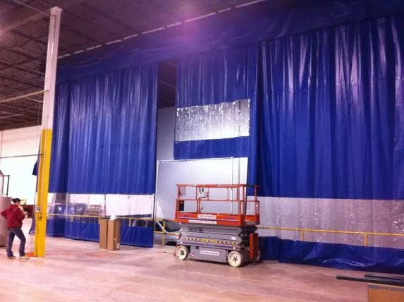 Loading Dock Curtains  Warehouse Door Enclosure Systems