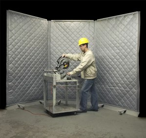 Portable Acoustic Screens can be used in Fab Shops for Cutting & Grinding