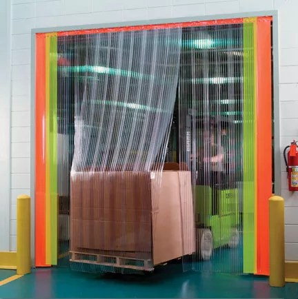 Accordion PVC Strip Curtains  Industrial Vinyl Plastic