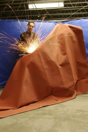 Welding Blankets with Silicone Coated Fiberglass contain High Abrasion Resistance Against Spark, Spatter & Slag