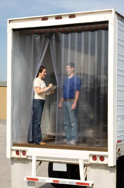 Truck PVC Strip Doors maintain refrigeration