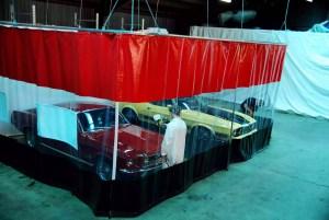 Auto body curtain walls