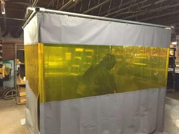 Welding Cells  Grind  Weld Work Enclosure Barrier Systems