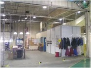Industrial Clear Vinyl Curtains Allow Work View and Contain Dust