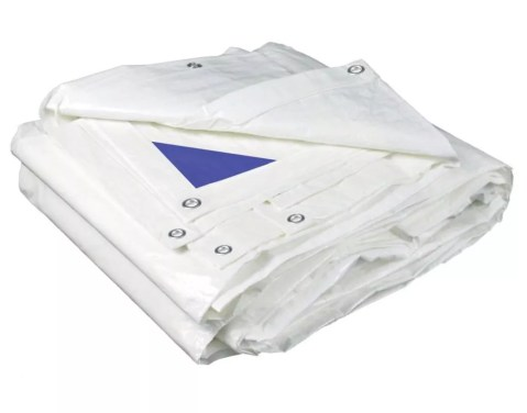 Fire Resistant White Poly Tarp - 8 Mil