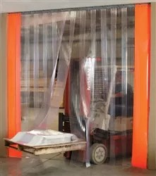 PVC Strip Curtains Allows Forklift Access Between Rooms & Stop Dust & Air Transfer