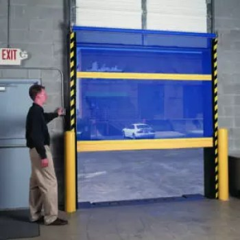 Roll Up Bug Mesh Door with In Tube Motor on the Interior of Warehouse to Block Bugs and Birds