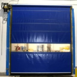Motorized Commercial Vinyl Roll Up Doors are a low cost solution for medium traffic flow in your warehouse