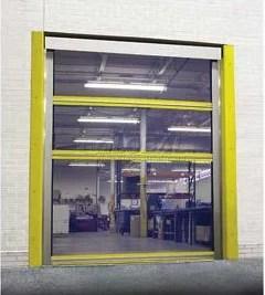 Dock Door Mesh Screens at Receiving Dock of Distribution Facility